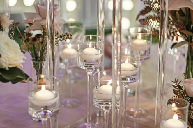 stemmed floating candles