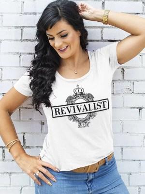 'Revivalist' Women's Festival Scoop Top Desert White