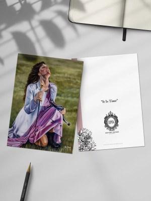 It is Time Greeting Card by Ilse Kleyn