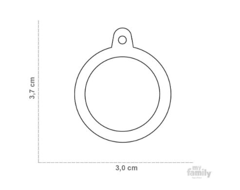 picture of round hushtag name tag size chart