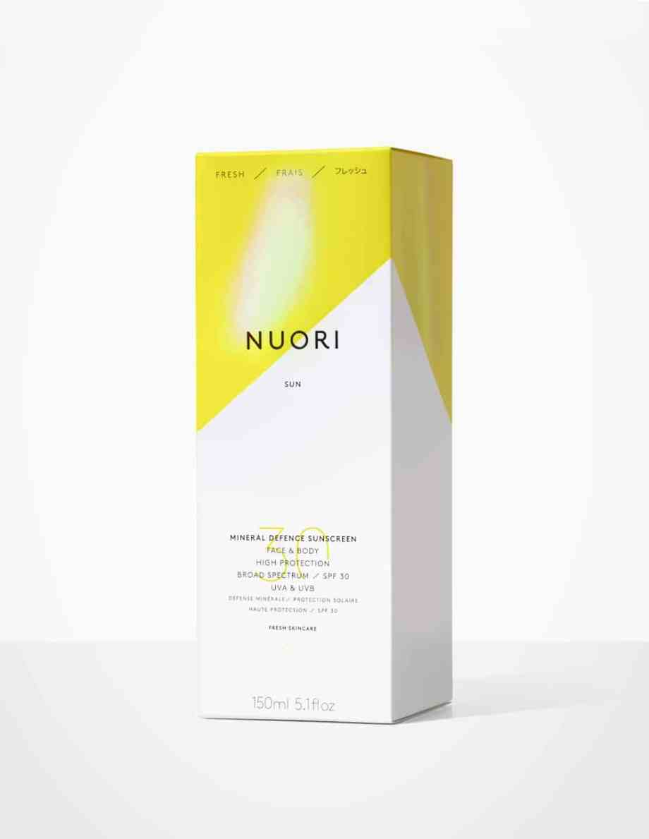Nuori Mineral Defence Face & Body aurinkovoide aurinkorasva beautiikki luonnonkosmetiikka