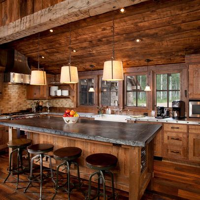 Log Cabin Kitchens Cabinets  Ideas in 2019