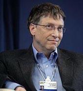 Создатель Microsoft Билл Гейтс. Фото.