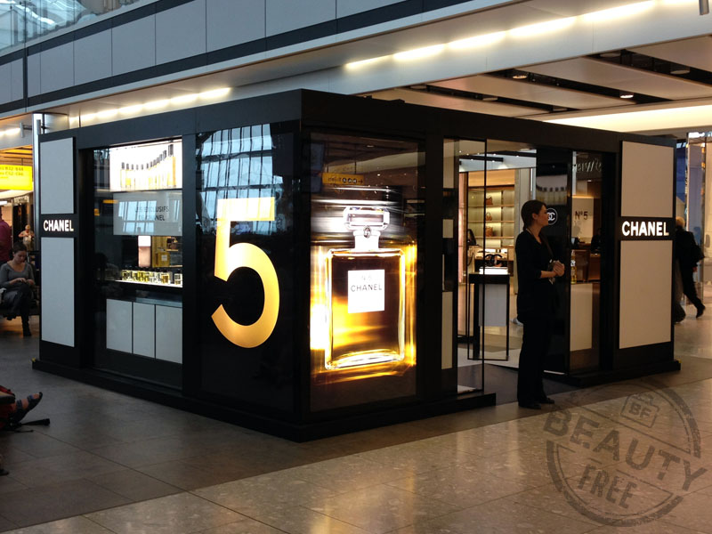 Chanel pop-up fragrance store at Heathrow T5