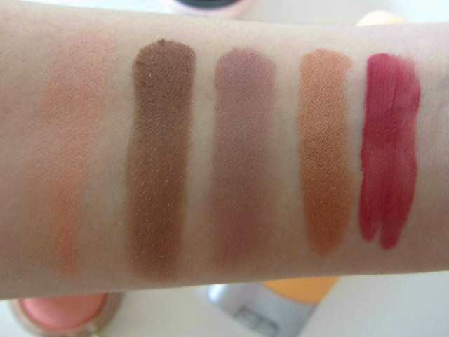 swatches makeup milani luminoso essence manhattan golden rose 212 rimmel kate 100 rose gold bourjois rouge edition velvet nude-ist