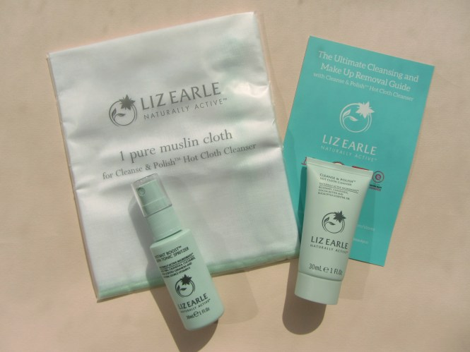 Liz Earle Mini Trio cleanse&polish hot cloth cleanser makeup balm makeup melt ; instant tonic boost; face tonic; skin care; sensitive skin