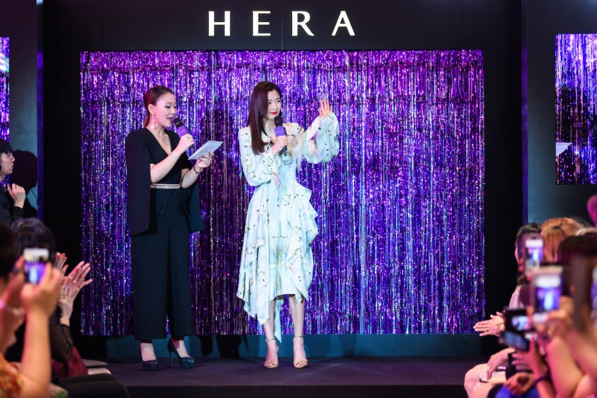HERA Ambassador, Gianna Jun Ji-hyun at 'Glow Up' Fashion Runway held at Ion Orchard