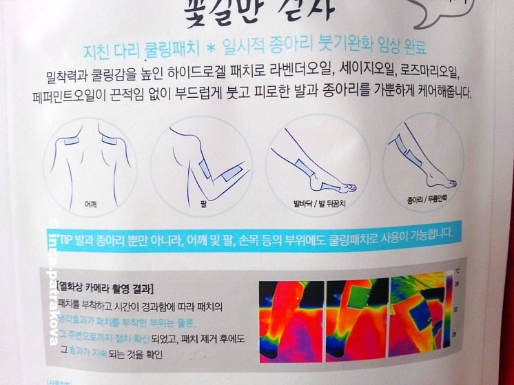TBL Korea Youth Over Flower Cooling Leg Patch