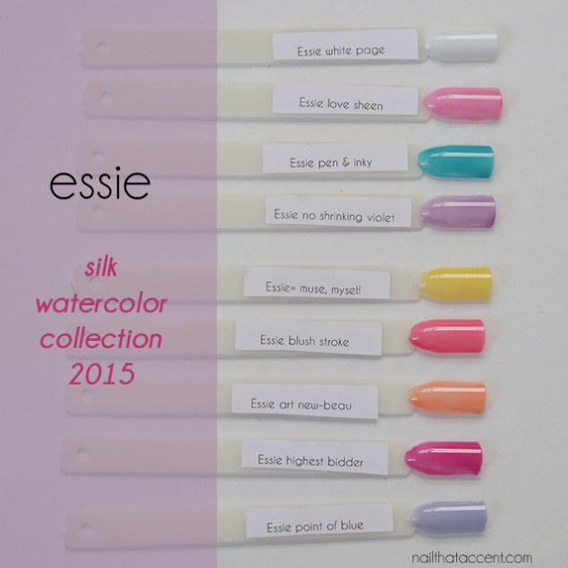 出典:essie Silk Watercolor Collection - nail that accent