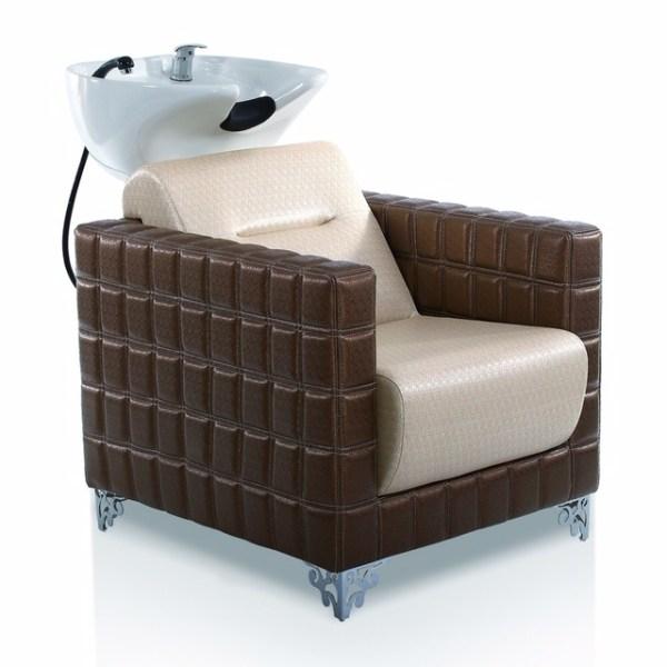 Lotus Λουτήρας Κομμωτηρίου Μπεζ κάθισμα με Λευκή Λεκάνη 32969