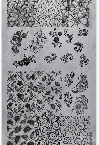 118602 STAMPING PLATE FLORAL No03