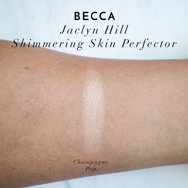 Becca Jaclyn Hill Pop Champagne Swatches