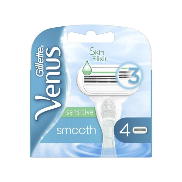 Gillette Venus Scheermesjes - Smooth Sensitive - 4 Stuks