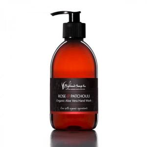 Highland Soap Co. Roos & Patchouli vloeibare handzeep 300ml, pomp