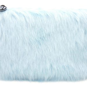 W7 Fluffy/Furry Make-up Tasje - Large Sky Blue
