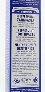 Bronners Peppermint Tandpasta Zonder Fluoride 140gram