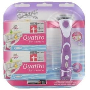 Wilkinson Sword Quattro for women bikini combi deal: scheersysteem + 6 scheermesjes
