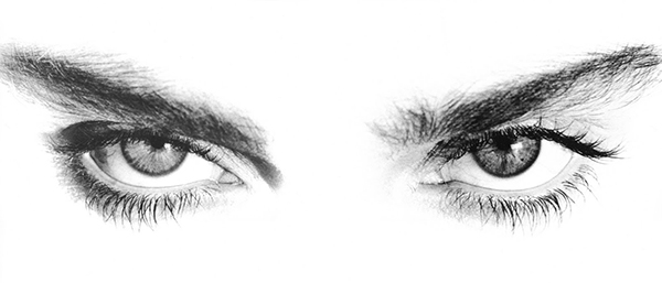 Madonna's eyes photographed by Herb Rits