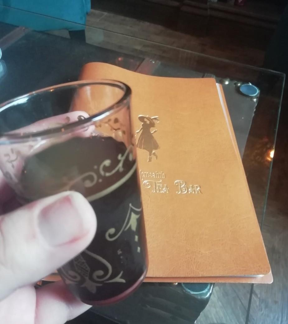 Welcoming drink at Memsahib Gin and tea Bar