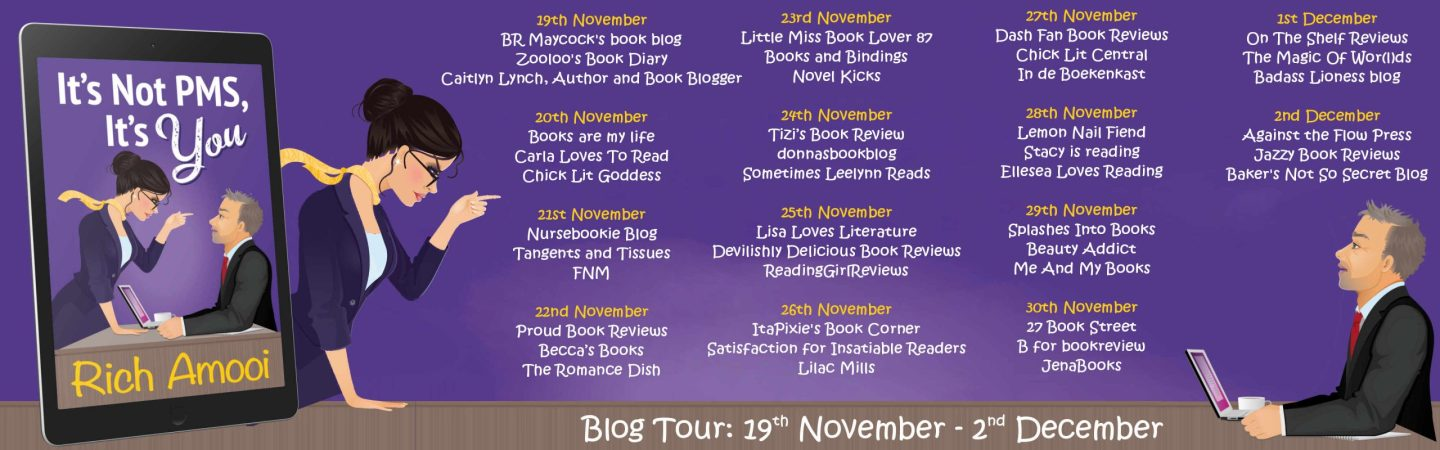 Its not PMS, its you Blog Tour Banner