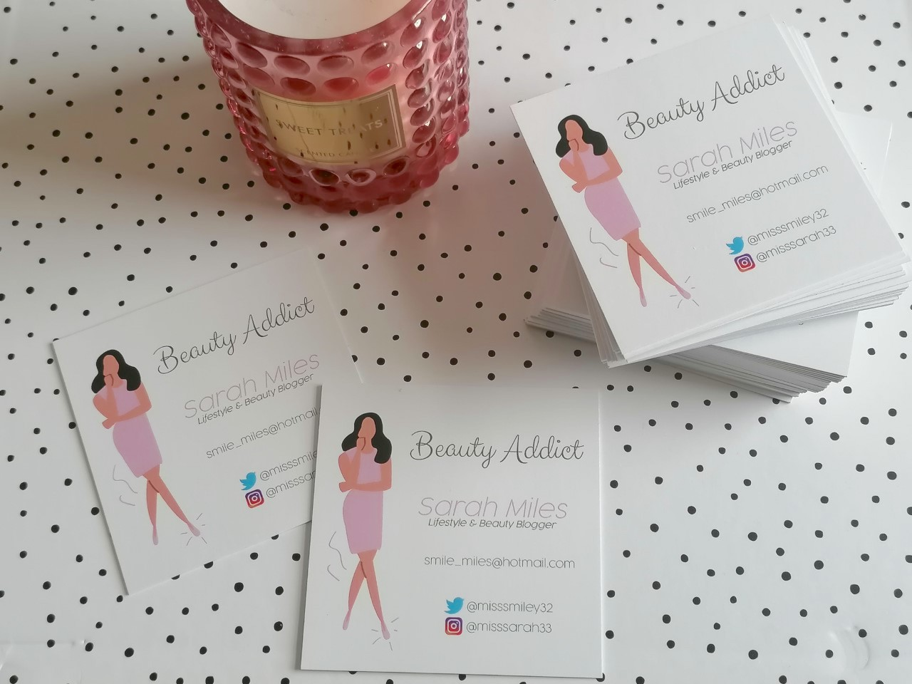 My business cards from Aura Print