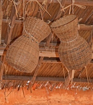 baskets under the roof