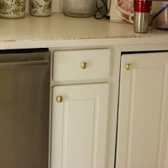 Kitchen Knobs Oak Cabinet Doors Spray Painting Good Enough Things Jen Schmidt Before Cabinets Opt