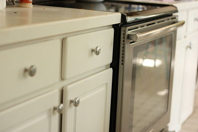 kitchen knobs blanco undermount sinks spray painting cabinet good enough things jen schmidt matching appliances opt