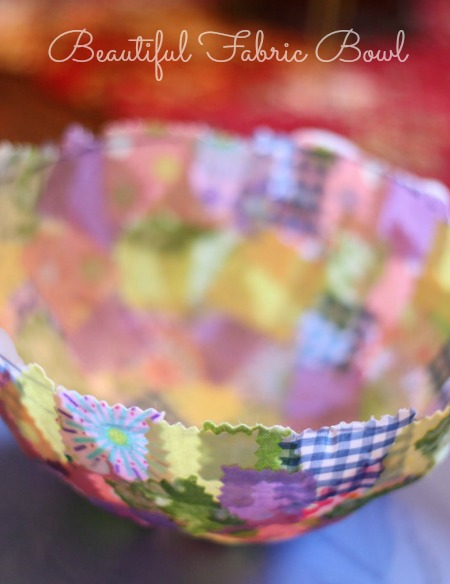 Make this adorable Fabric Covered Easter Basket by covering a balloon. Love this!