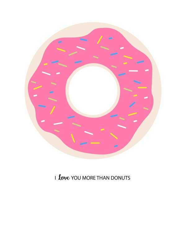 donut printables oh happy day - HD2550×3300
