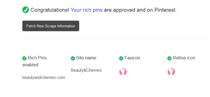 Approved Rich Pins