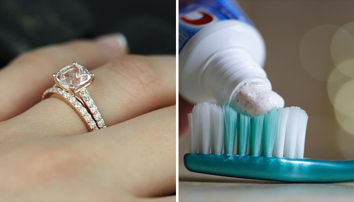 Cleaning hacks Toothpaste can also help make your engagement ring shine