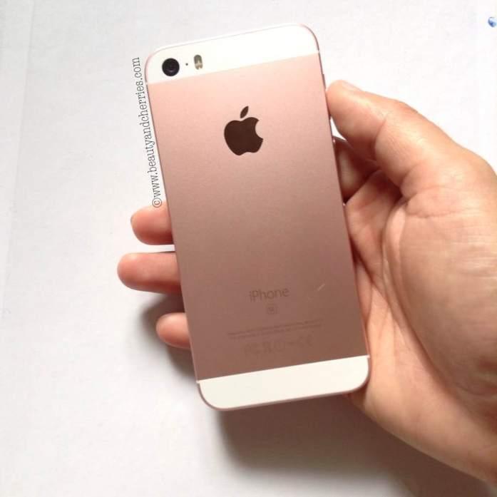 rose gold apple smartphone