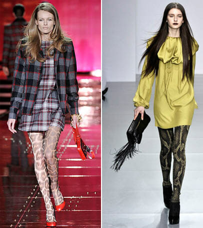 just cavalli jaeger london animal print tights Fall/Winter 2011 trends Part 3: Animal Print tights.