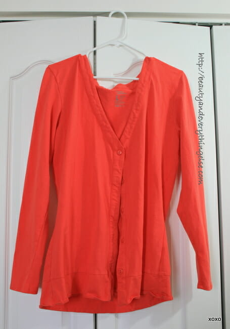 Coral cardigan from Forever 21
