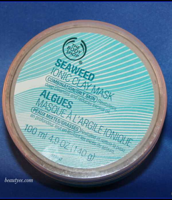 The body shop seaweed Ionic clay mask: