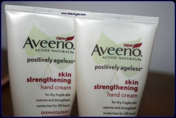 Aveeno Positively Ageless Skin Strengthening Hand Cream review, swatches!