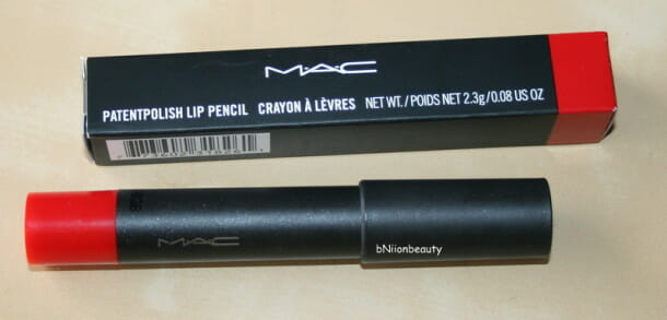 MAC PatentPolish Lip Pencil Berry Bold Review