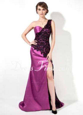 purple elegant dress