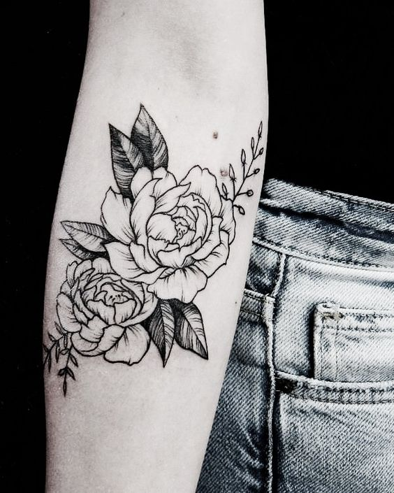 Español Tatuajes De Rosas Para Mujer