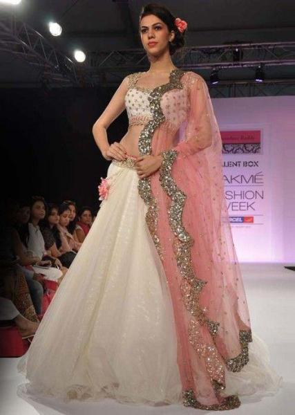 Scalloped lehenga designs