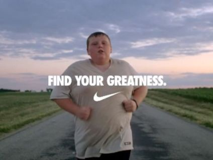 Figure 2. Nike advertisement on fighting childhood obesity in 2012.
