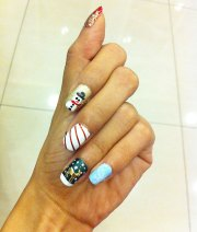 work life nail art shoot