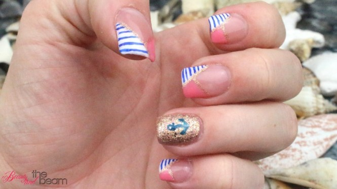 nageldesign maritime n gel beauty and the beam