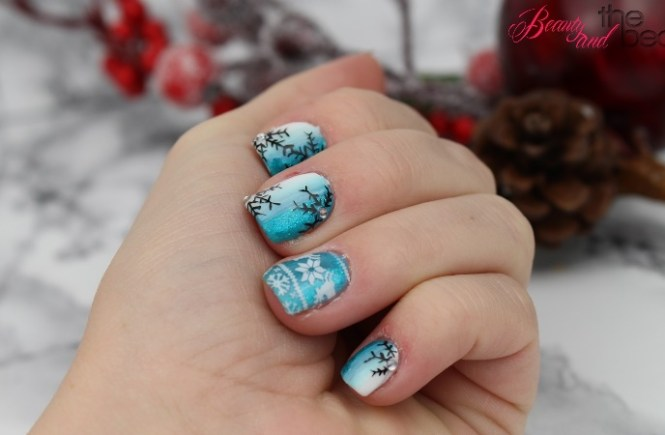 [Nails] Winternägel blau/weiß | Beauty and the beam