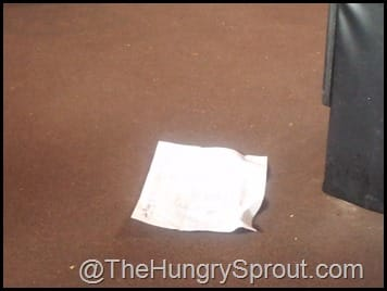Paper on Floor