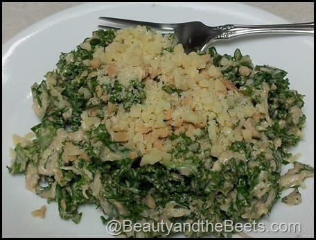 Kale Salad with Peanut Dressing