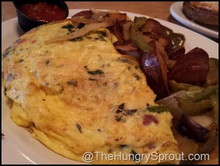 Roasted Veggie Omelet