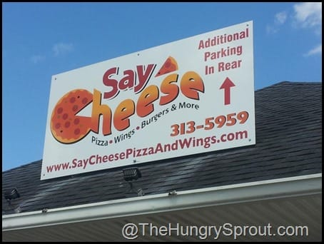 Say Cheese sign