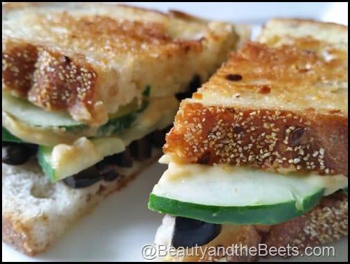 Grilled Cucumber Hummus BeautyandtheBeets